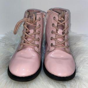 Pink rainbow boots